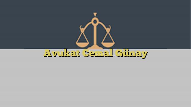 Avukat Cemal Günay
