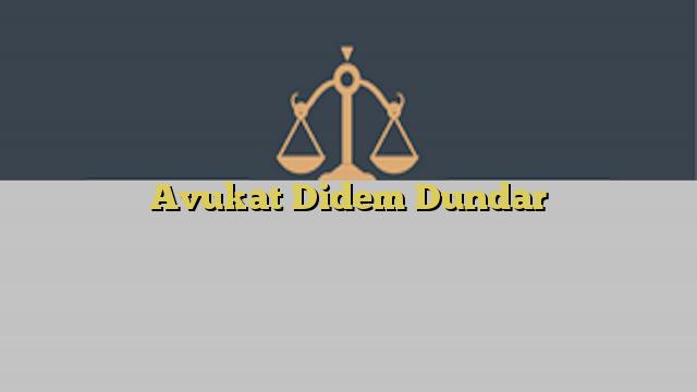 Avukat Didem Dundar