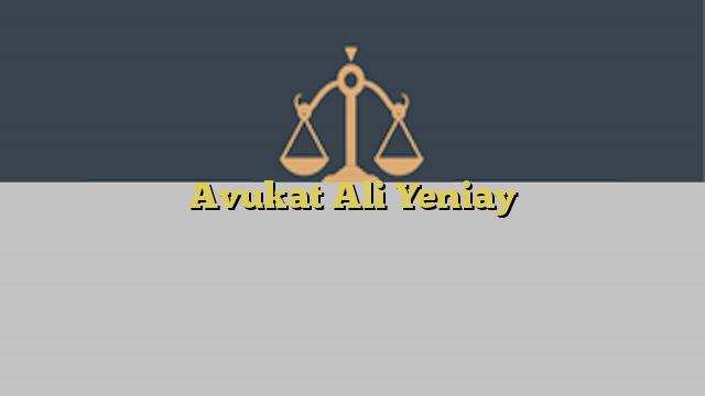 Avukat Ali Yeniay