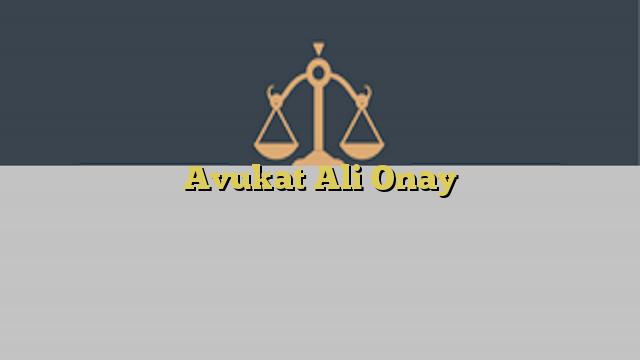 Avukat Ali Onay